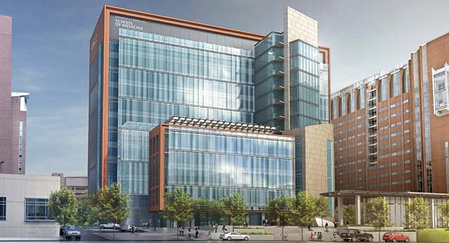 University of Maryland Baltimore Health Sciences Research Facility Phase III Baltimore, Maryland Building Exterior Rendering