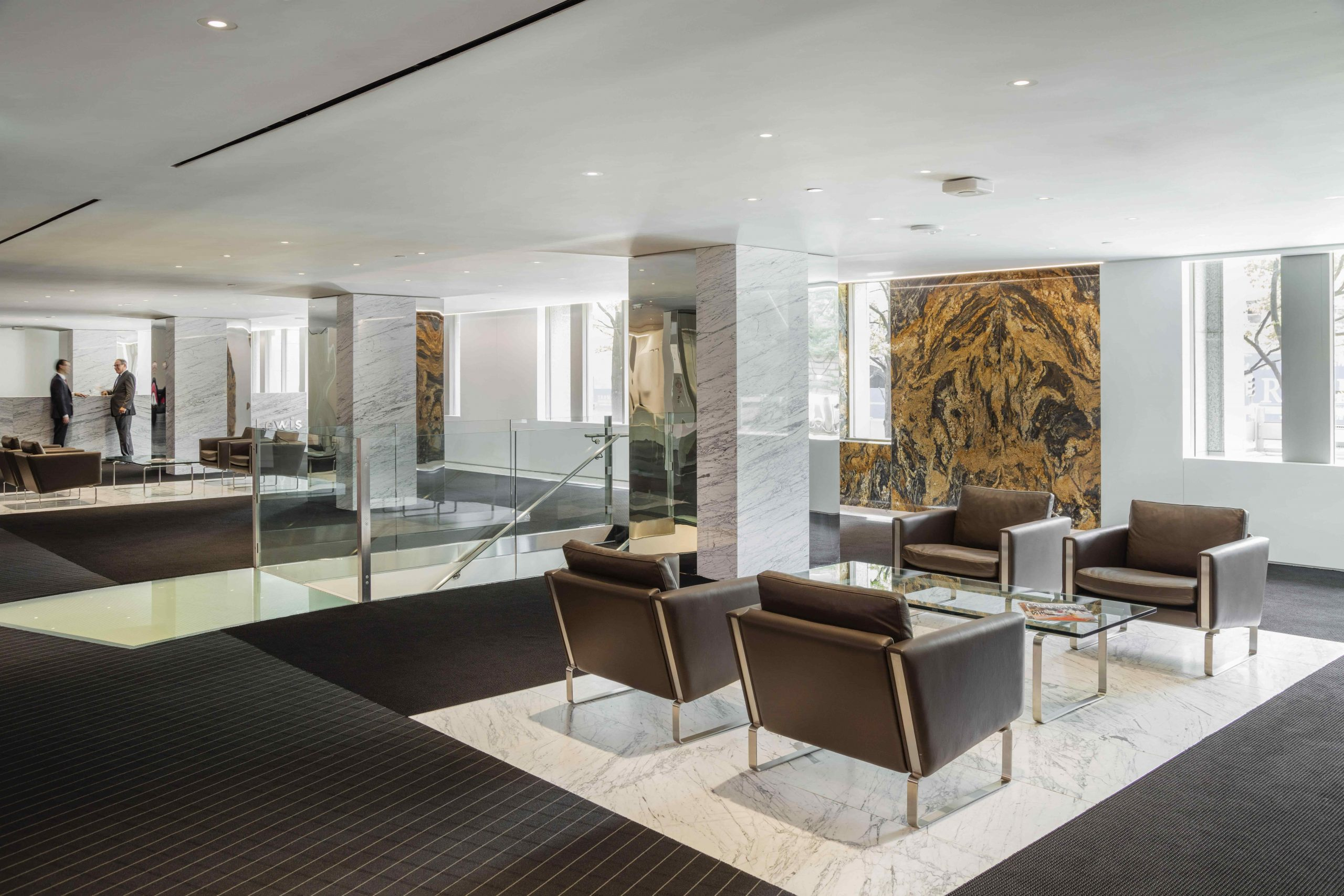office lobby with seating Law Firm DC