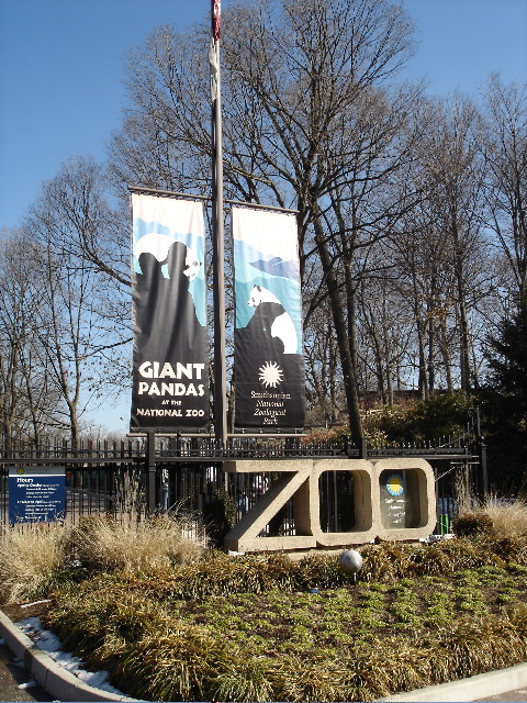 National Zoo Park Sign